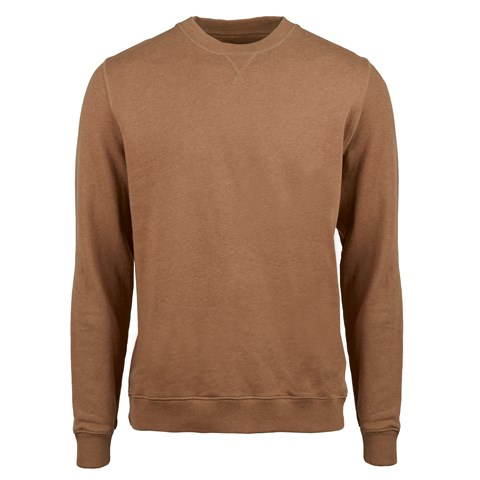 Beige College Cotton Crew Neck