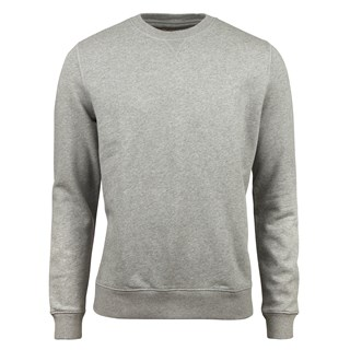 Grey College Cotton Crew Neck