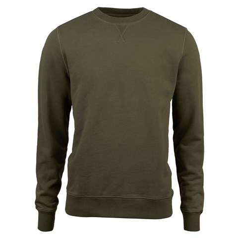 Forest Green College Cotton Crew Neck