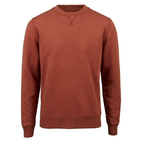 Rust College Cotton Crew Neck