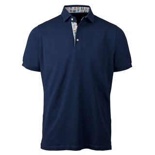 Navy Polo Shirt With Contrast