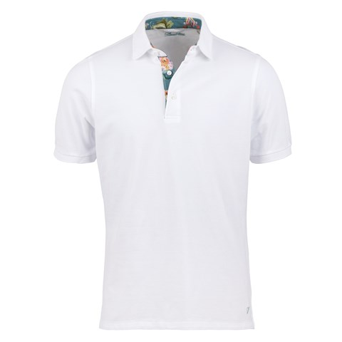 White Polo Shirt With Contrast