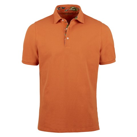 Orange Polo Shirt With Contrast