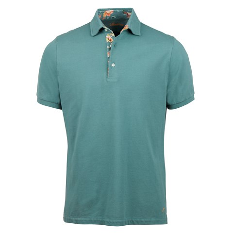 Petrol Polo Shirt With Contrast