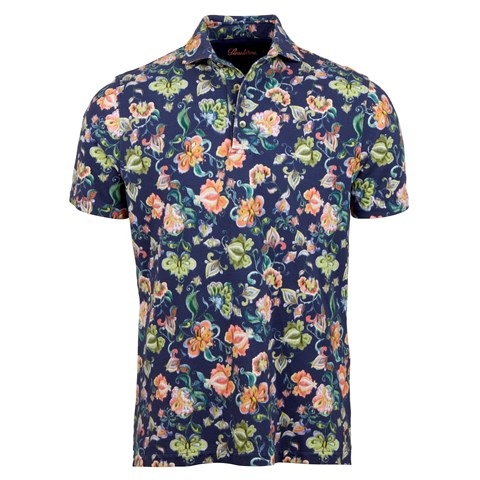 Paisley Watercolor Pique Polo Shirt