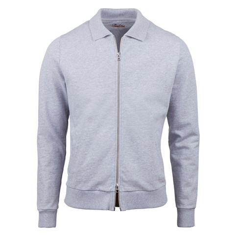 Grey College Zip Jacket