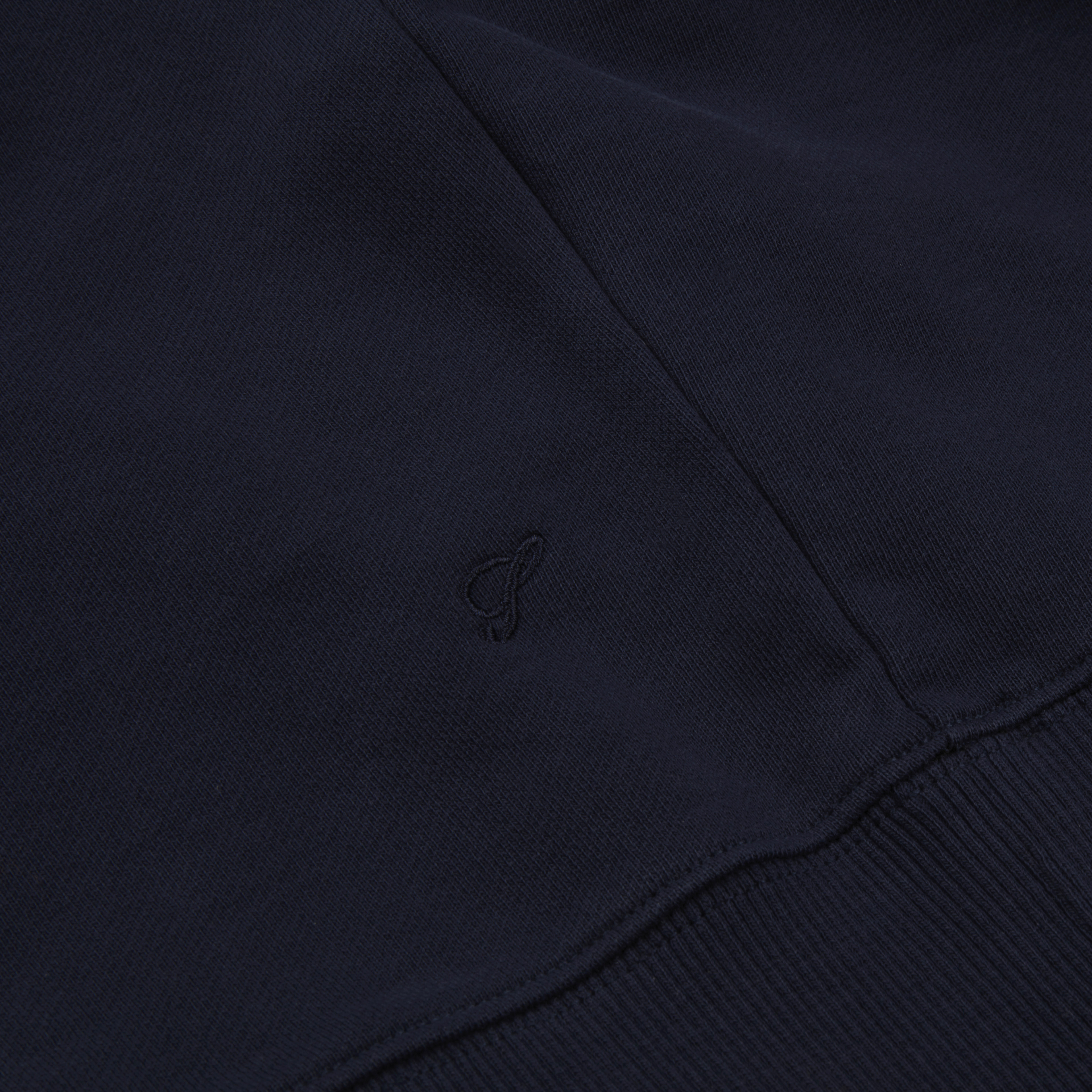 Dark Navy Green Staccato Kapuzensweatshirt ROUGH
