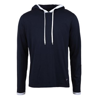 Navy Lightweight Hoodie With Contrast