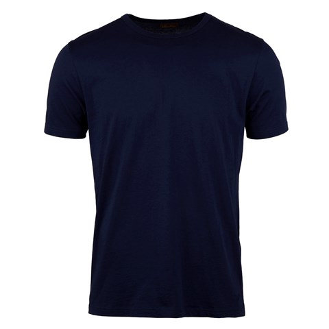 Solid Cotton T-shirt Navy