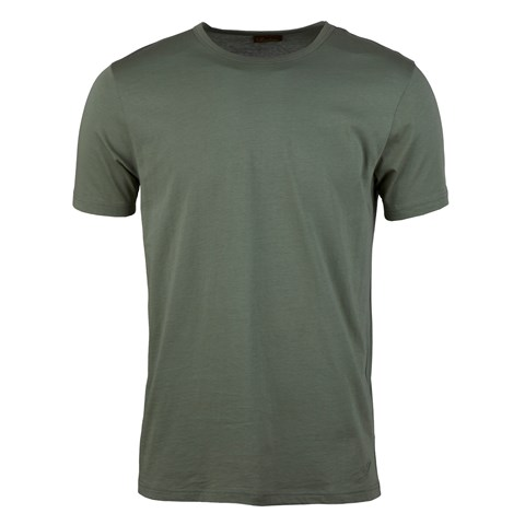 Solid Cotton T-shirt Green