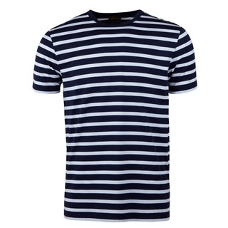 Cotton T-shirt Striped Navy