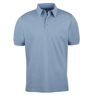 Cotton Polo Shirt Light Blue