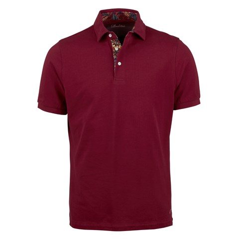 Cotton Polo Shirt Contrast Fuchsia