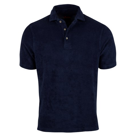Cotton Terry Pique Shirt Navy