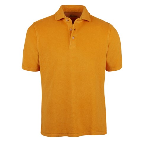 Cotton Terry Pique Shirt Yellow