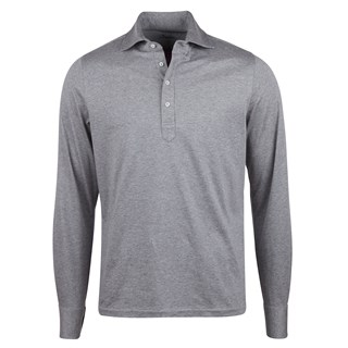 Cotton Pop Over Shirt Long Sleeve Grey
