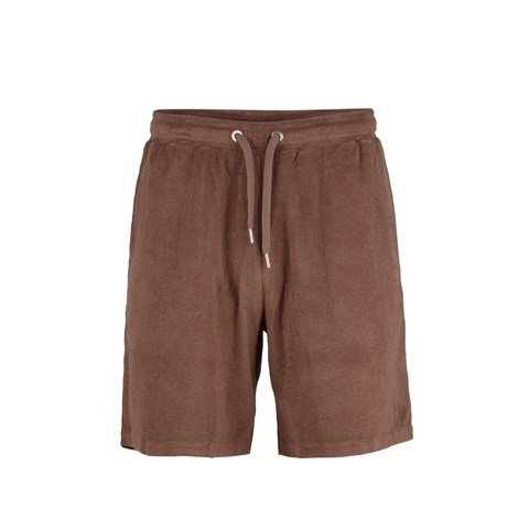 Cotton Terry Shorts Brown