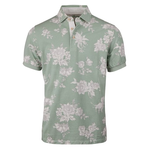 Mint Floral Polo Shirt