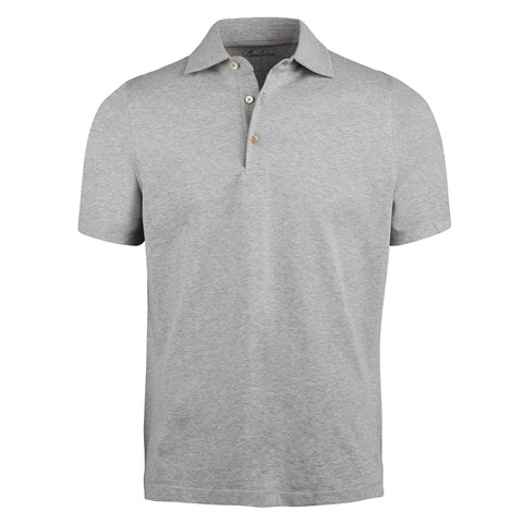 Grey Mélange Polo Shirt
