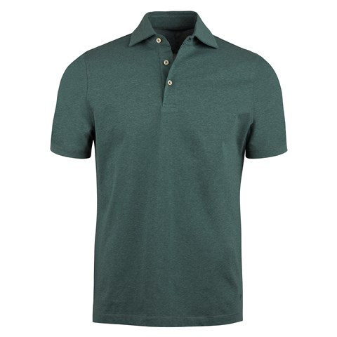 Green Mélange Polo Shirt