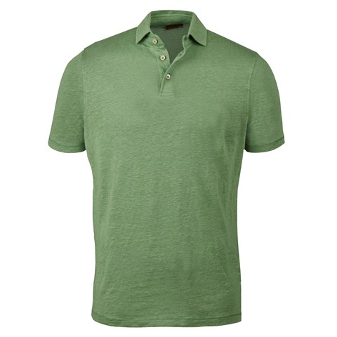 Light Green Linen Polo Shirt