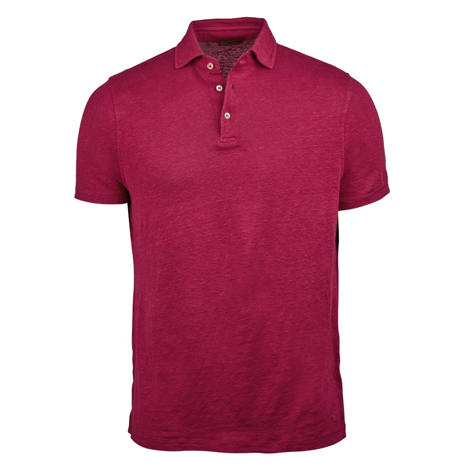 68614383f4d9a Red Linen Polo Shirt
