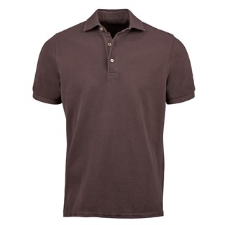 Brown Pigment Dyed Polo Shirt