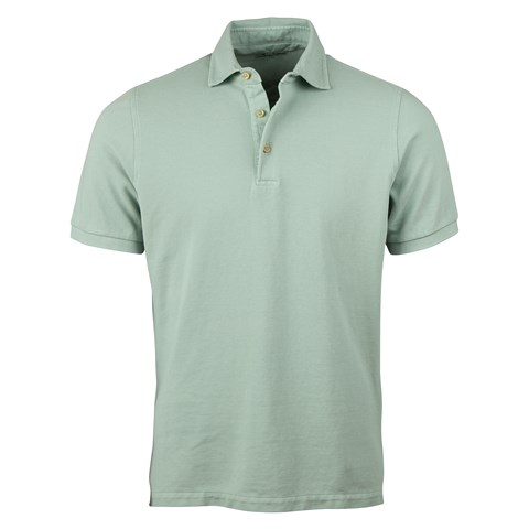 Mint Green Pigment Dyed Polo Shirt