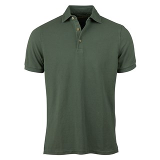Forest Green Pigment Dyed Polo Shirt