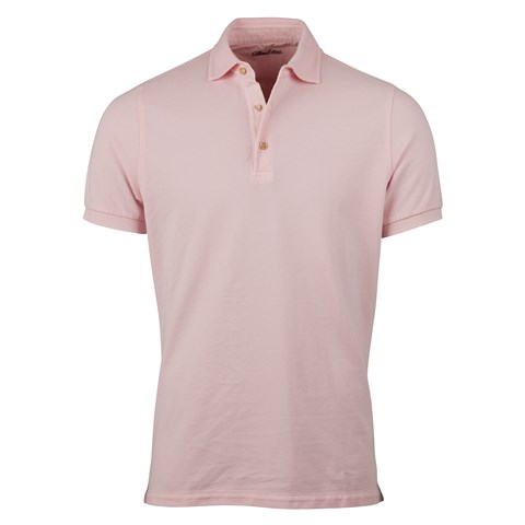Light Pink Pigment Dyed Polo Shirt
