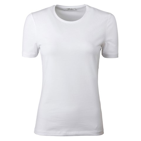 White T-Shirt In Jersey Stretch