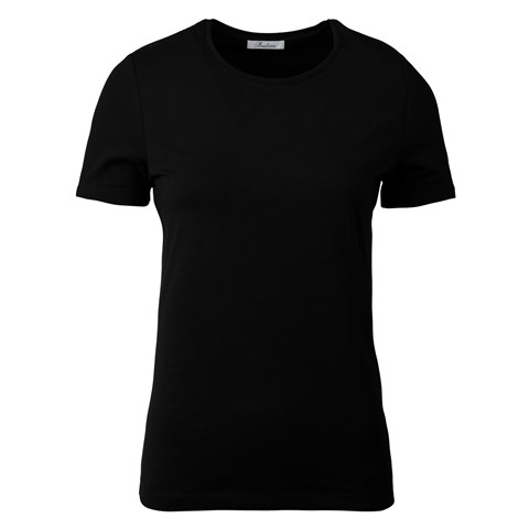 Black T-Shirt In Jersey Stretch