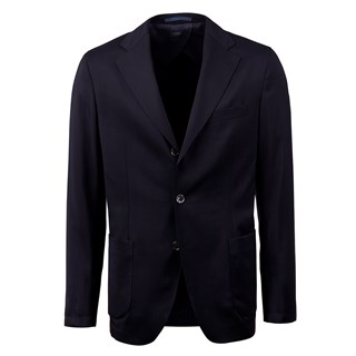 Unconstructed Navy Wool Blazer