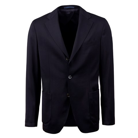 Navy Travel Wool Blazer