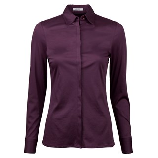 Plum Shirt in Jersey