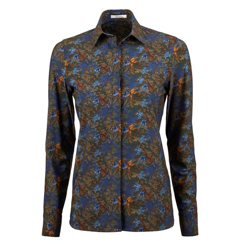 Floral Shirt In Jersey