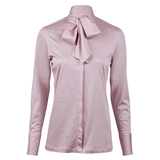 Pink Jersey Blouse With Bow
