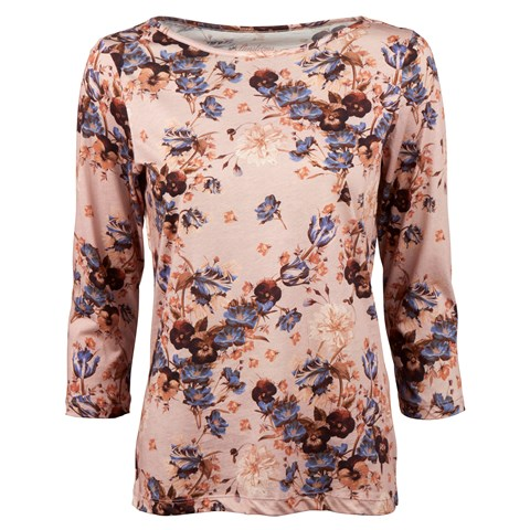 Flower Patterned Jersey T-shirt