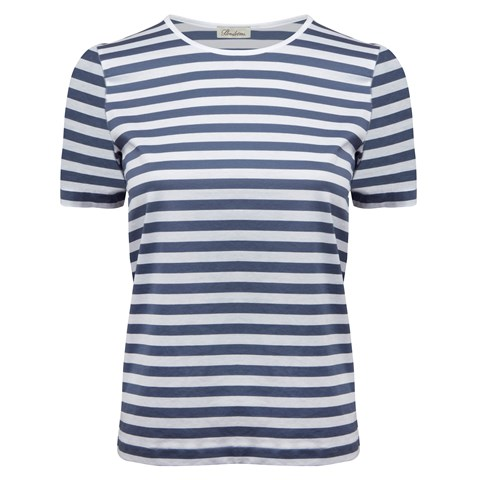 Blue Striped T-Shirt In Cotton Jersey