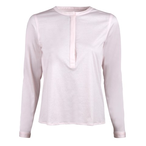 Light Pink Popover Shirt in Jersey