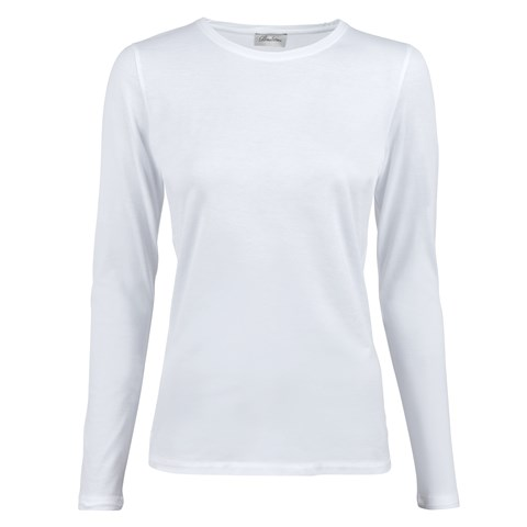 White Long Sleeved T-shirt In Cotton Jersey