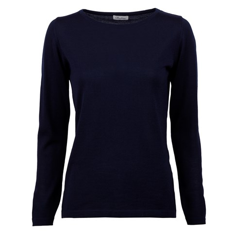 Navy Merino Boat Neck Sweater
