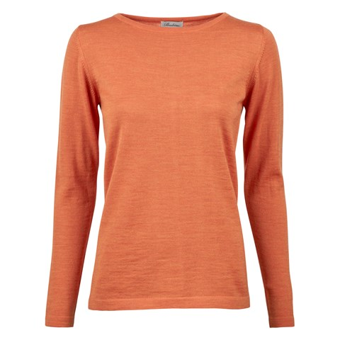 Orange Merino Boat Neck Sweater