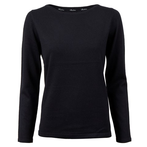 Navy Silk & Cashmere Sweater