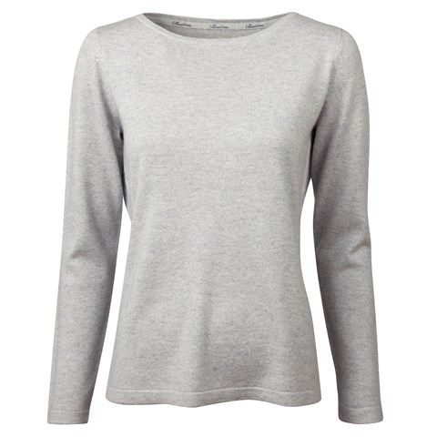 Grey Silk & Cashmere Sweater