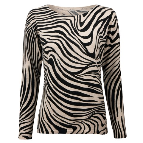 Zebra Silk & Cashmere Sweater