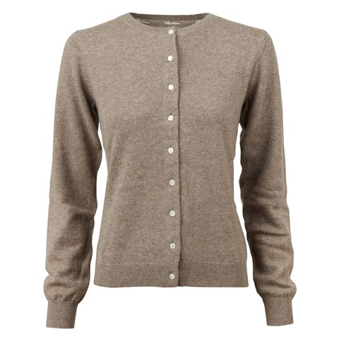 Mud Brown  Cashmere Cardigan
