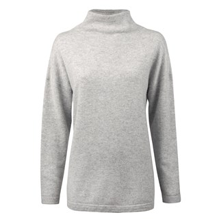 Light Grey Cashmere Turtle Neck