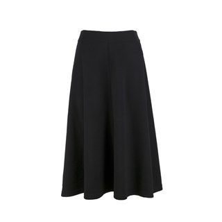 Aisha Knitted Merino Skirt Black