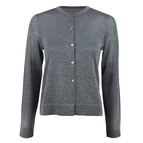 Anthracite Metallic Cardigan